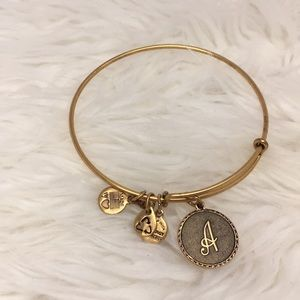 Alex and Ani Gold Initial A Bracelet